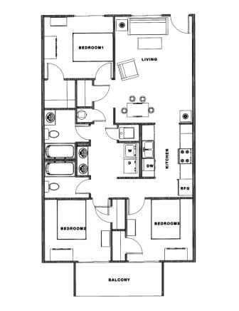 floor plan with balcony 502 springfield