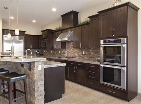 dark chocolate kitchen cabinets door style only aspect cabinetry chocolate poplar