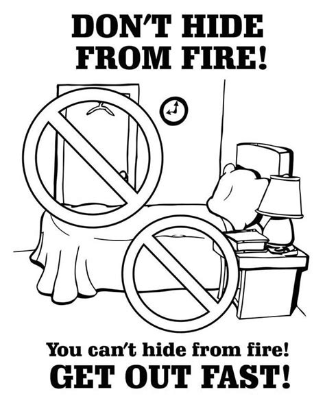 fire safety coloring pages download printable fire safety