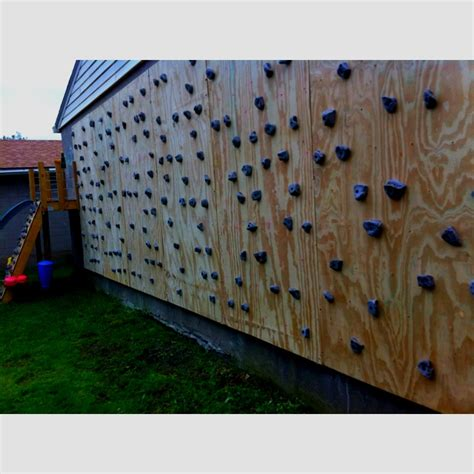 diy outdoor climbing wall diy family climbing wall diy fitness pinterest