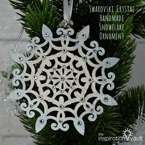 Handmade Snowflake - swarovski handmade snowflake ornament the