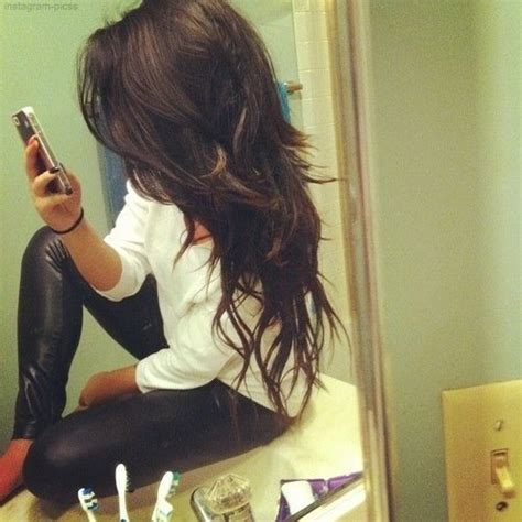 long hair drastic layers long angled layers i like the top the bottom is too