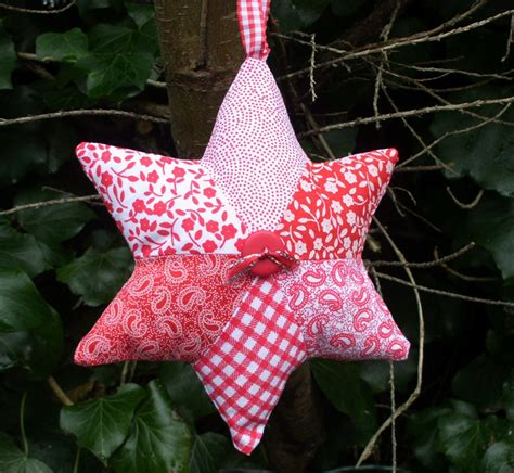 marion star christmas decoration how to make a patchwork tea and a sewing machine