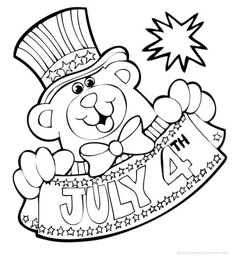 4th Of July Coloring Page For Toddlers by Coloring Pages For American Independence Day Coloring Pages