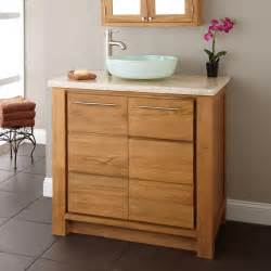 Bathroom Vanity Sink by 36 Quot Venica Teak Vessel Sink Vanity Teak Bathroom