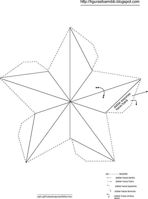 figuras y moldes de foami molde estrella3d arbol navidad