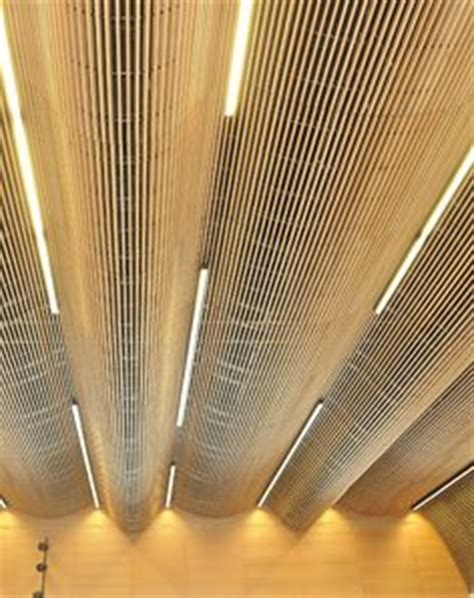 Rulon Linear Wood Ceiling by Rulon Wood Grille Panels Can Be Shaped In To Curved