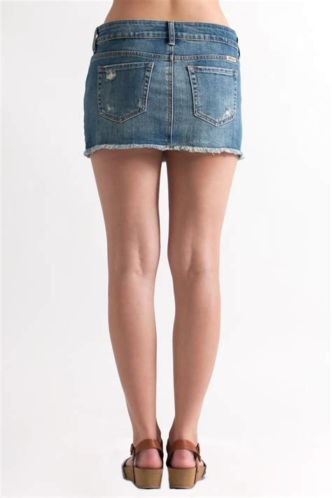 just usa destroyed denim skirt from philadelphia by may 23