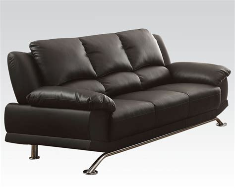 how do bonded leather sofas last black bonded leather sofa maigan by acme furniture ac51205