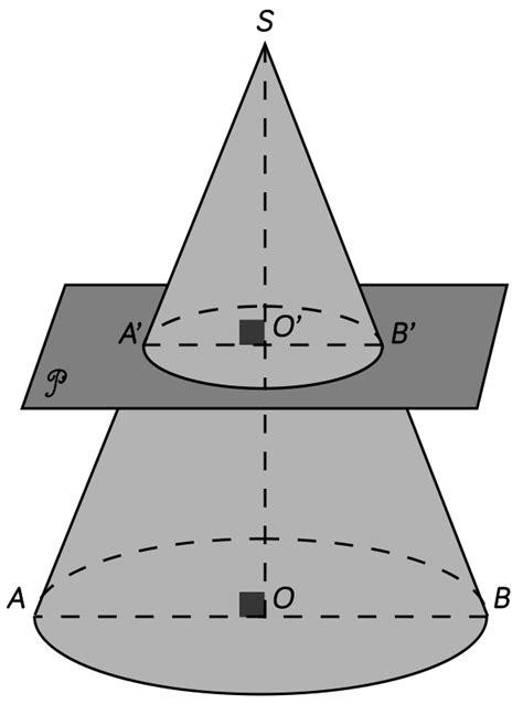 section of cone section planes fiche de cours schoolmouv