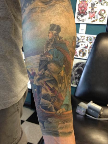 george washington tattoo by brian pittman tattoo