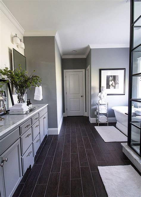 white subway tile bathroom wood floor design houseofphy com