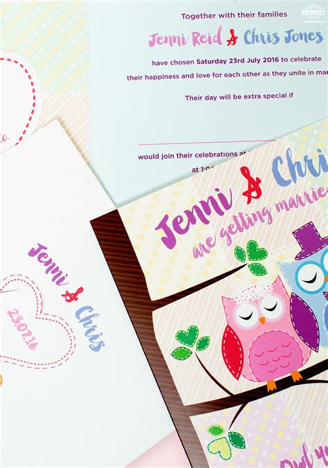 owl themed wedding invitations wedfest