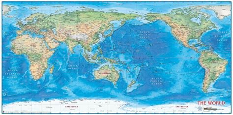 world map image pacific centered world physical wall map pacific centered by compart maps