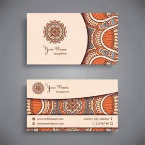 decorative business card ethnic decorative elements business card vector 13