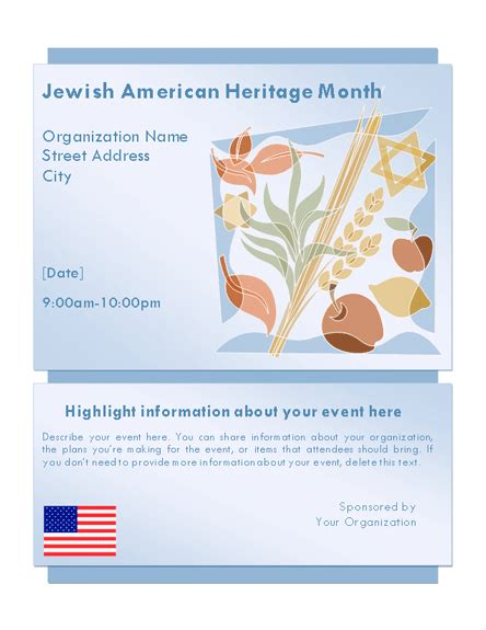 free microsoft office flyer templates heritage month event flyer free flyer