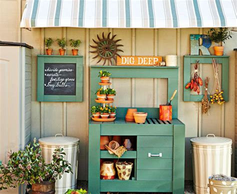 rustic country potting shed ideas  home outdoors