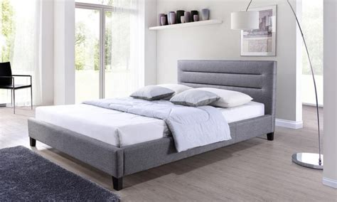 groupon bed fabric upholstered bed groupon