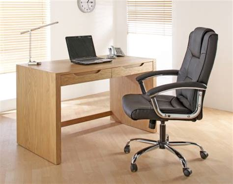 Alphason Butler Oak Home Office Desk Solid Oak With Oak Home Office Desk