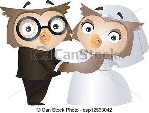 sposi clipart vettore eps di gufo matrimonio illustrazione di 224