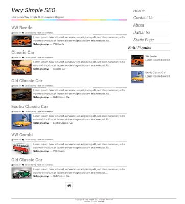 very simple seo blogger template simple blogger templates