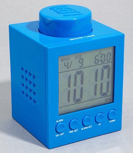 lego brick shaped alarm clock gadgetsin