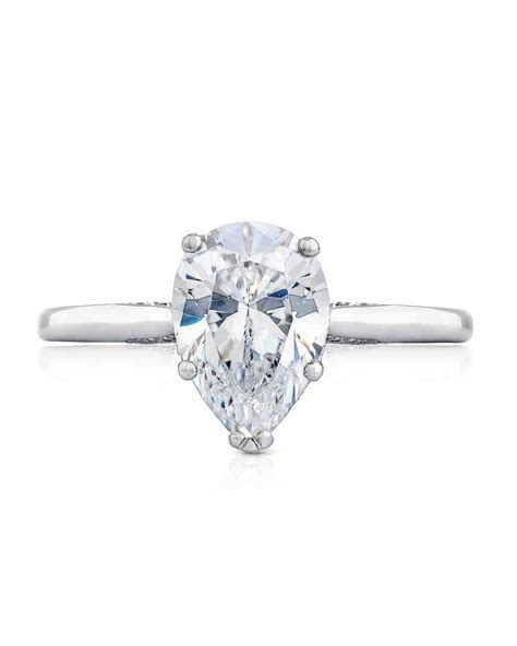 Pear Engagement Rings by Pear Cut Engagement Rings Martha Stewart Weddings