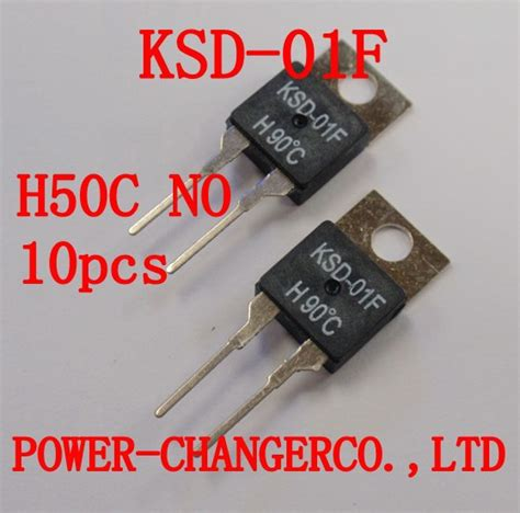 Temperature Switch Thermostat No Normal Open Thermal Protector 10pcs ksd 01f h50c replace airpax 67f050 normal open