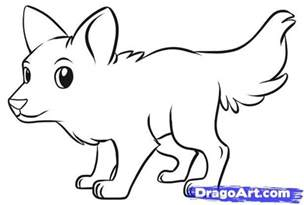 How To Draw A Wolf That Is Easy Easy Wolf Drawings In Pencil How To Draw A Simple Wolf