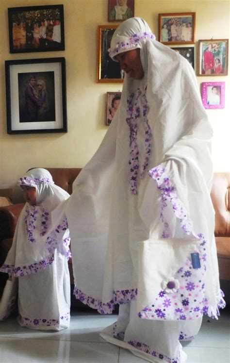 Mukena Katun Flower Pink Bunga Ibu Anak perlengkapan shalat