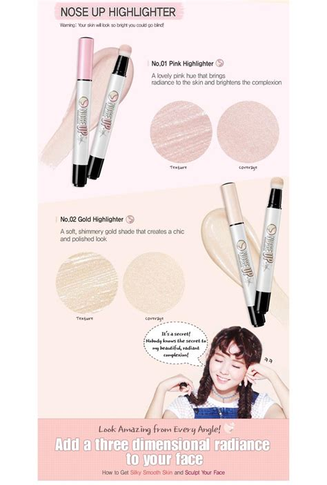 Peripera Nose Up Shading box korea peripera nose up highlighter shading