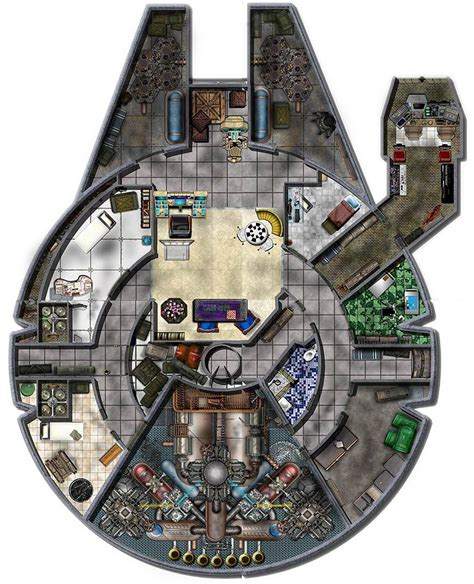 Millennium Falcon Floor Plan by Click The Image To Open In Size Wars