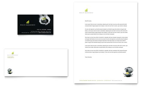 wealth management services business card letterhead template word publisher