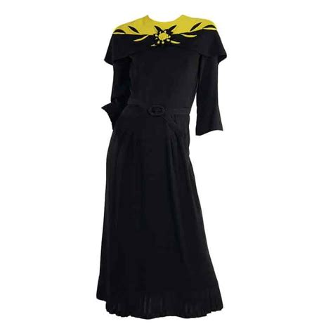 1940s swing dress 1940s dramatic silk crepe swing dress at 1stdibs