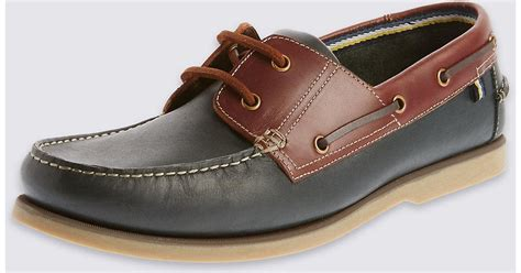 extra wide boat shoes marks spencer extra wide fit leather lace up boat shoes
