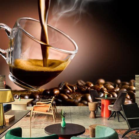 Custom mural,Papel de parede Coffee Grain Cup Food