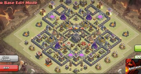 clash of clan th 9 war base war base designs punchbowlwar