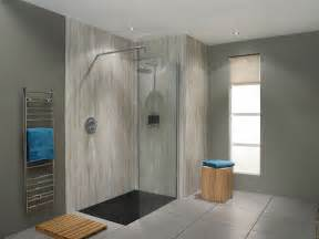 silver travertine nuance bathroom wall panel