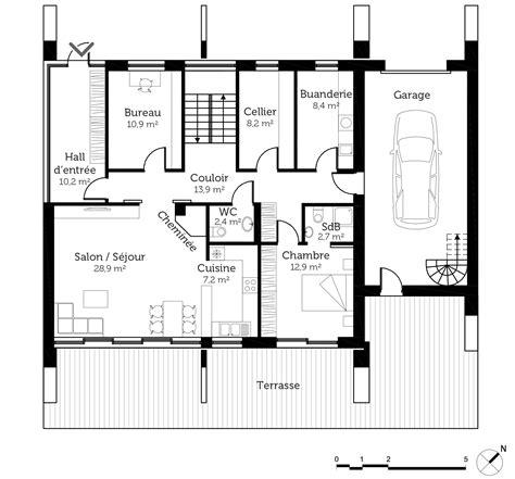 Plan D Architecte De Maison by Plan Maison Moderne D Architecte Ooreka