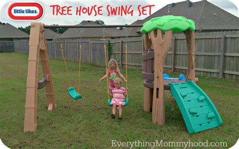 Tikes Tree House Swing Set by Tikes Tree House Swing Set Review Giveaway Ends