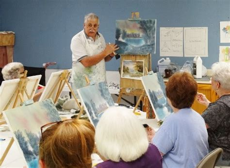 bob ross painting instructor classes larrys painting classes woodlands and
