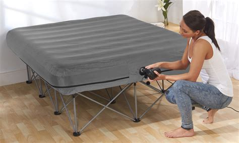 inflatable bed with frame inflatable double bed with frame groupon goods