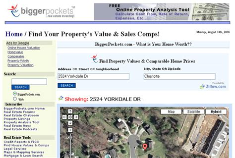 biggerpockets adds powerful home valuation tool