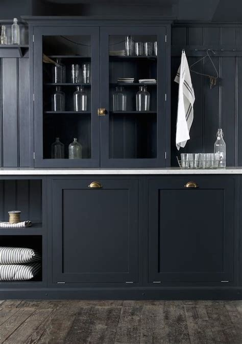 Navy Blue Kitchen Cabinets navy kitchen cabinets transitional laundry room