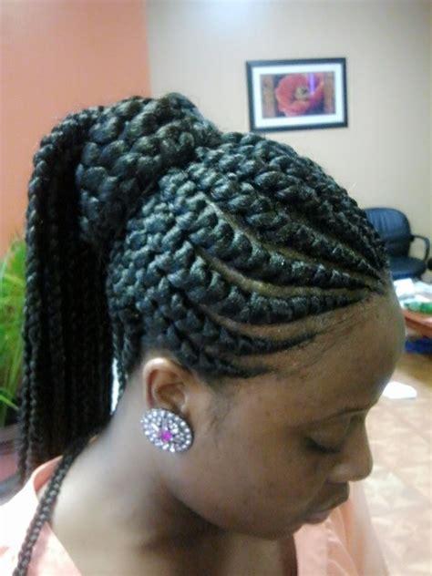 invisible canerow half cornrow half box braids hairstylegalleries com