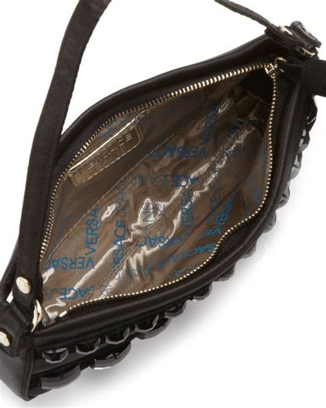Versace Satin And Velvet Large Handbag by Versace Couture Satin Small Beaded Shoulder Bag In