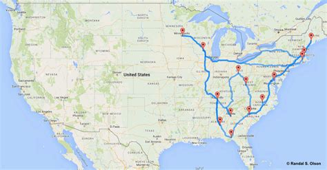 map of usa states driving this is the ultimate united states road trip according to