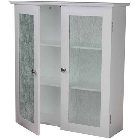 connor wall cabinet with 2 glass doors white walmart