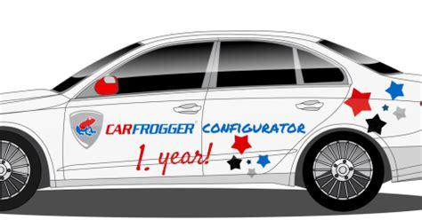 Autofolien Konfigurator by Carfrogger Autofolierung Car Wrapping Ein Jahr