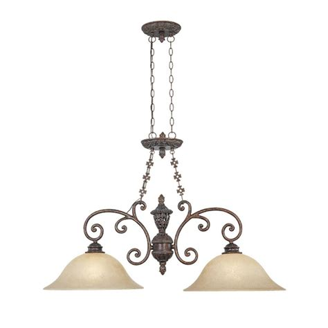 Eglo Island Lighting Eglo Troya 3 Light Antique Brown Hanging Island Light With Mosaic Glass Shade 20964a The Home